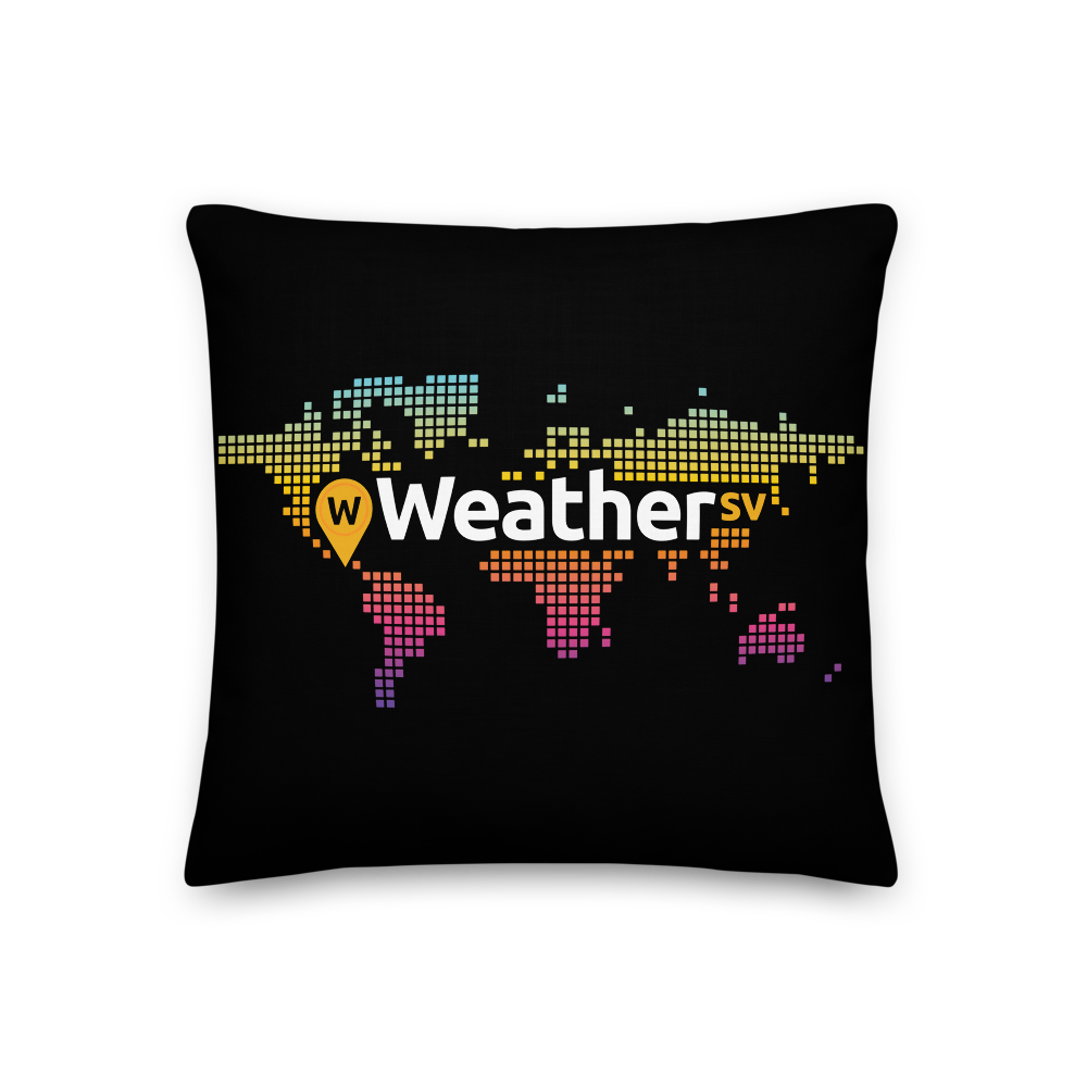 Weather SV Premium Pillow 18×18  - zeroconfs