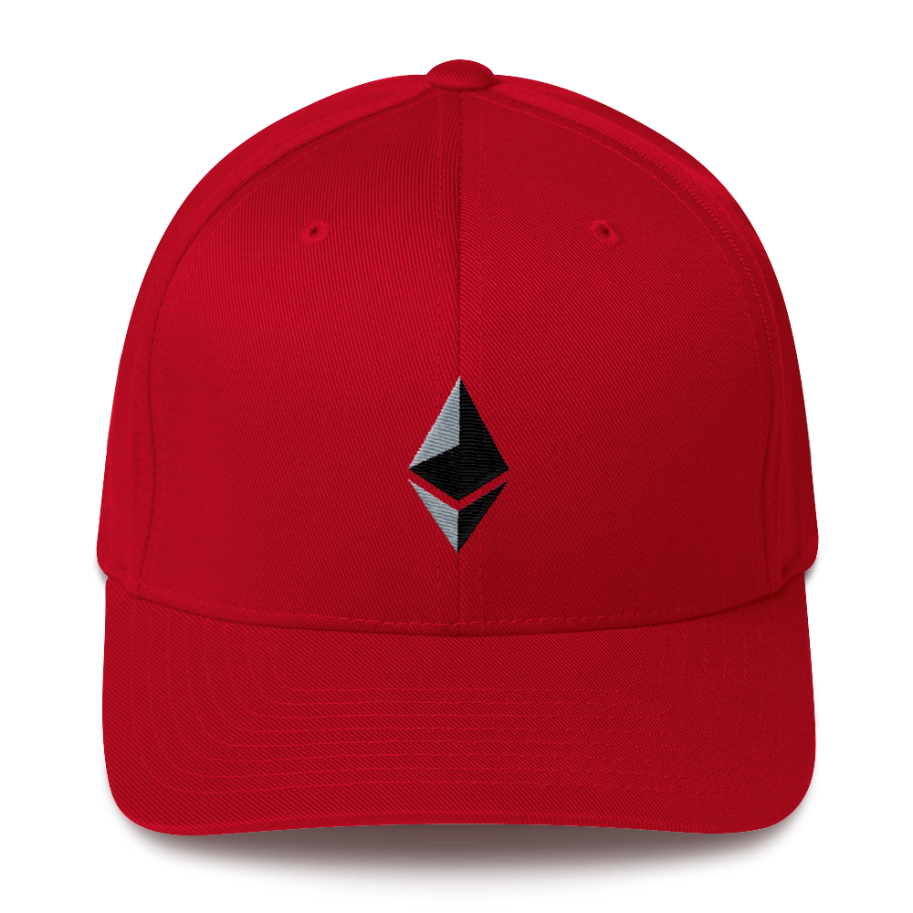 Ethereum Flexfit Cap Red S/M - zeroconfs