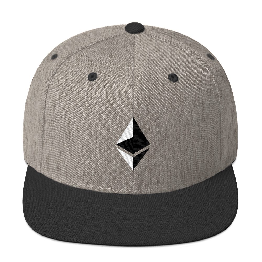 Ethereum Snapback Hat Heather/Black  - zeroconfs