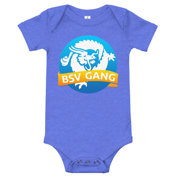 Bitcoin SV Gang Baby Bodysuit Heather Columbia Blue 3-6m - zeroconfs