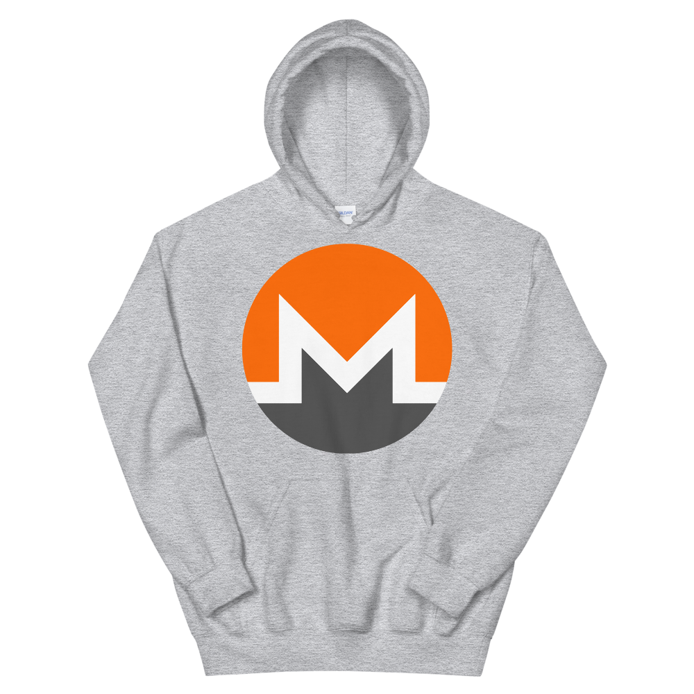 Monero Hooded Sweatshirt Sport Grey S - zeroconfs