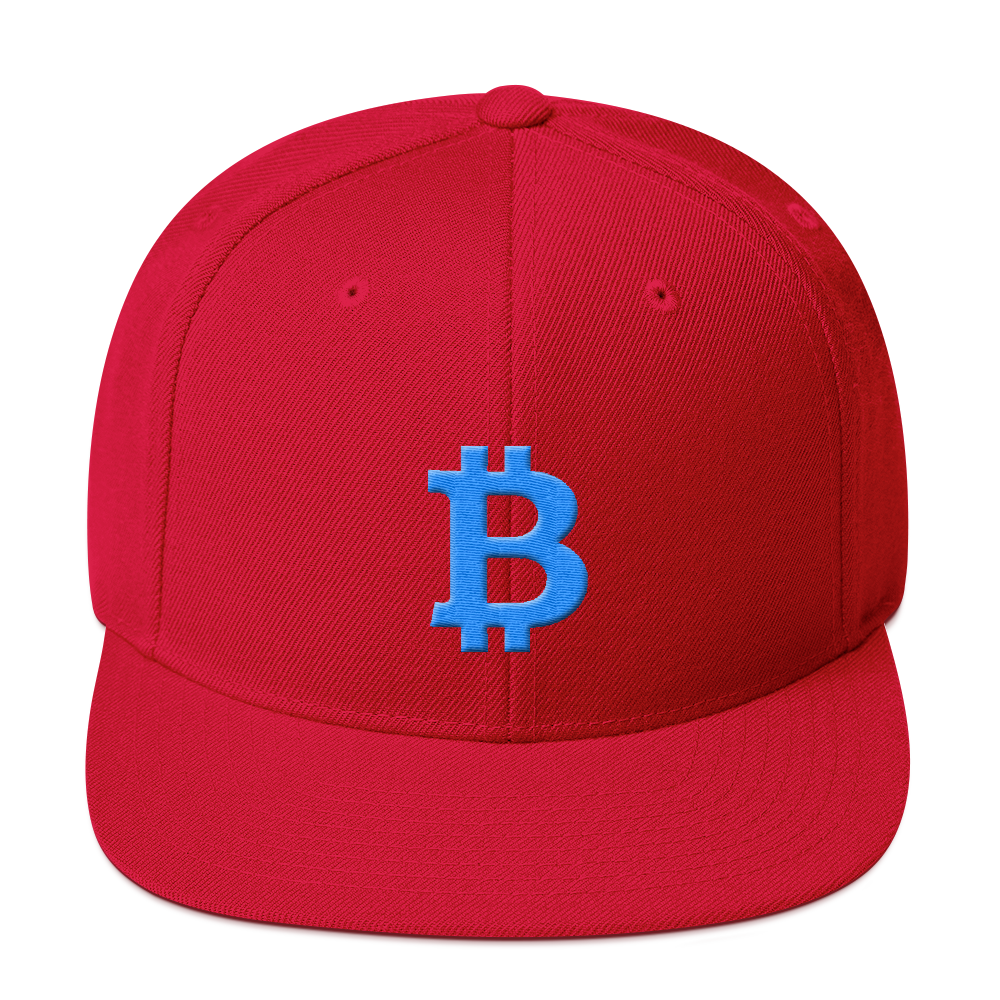 Bitcoin B Snapback Hat Teal Red  - zeroconfs