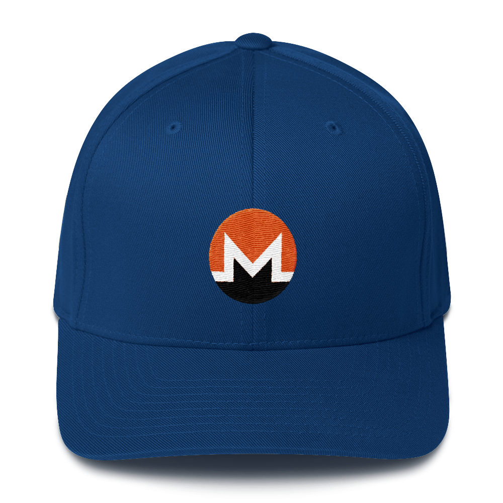 Monero Flexfit Cap Royal Blue S/M - zeroconfs