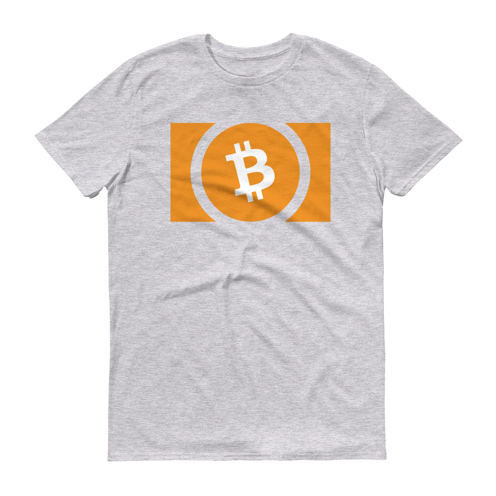 Bitcoin Cash Short-Sleeve T-Shirt Heather Grey S - zeroconfs