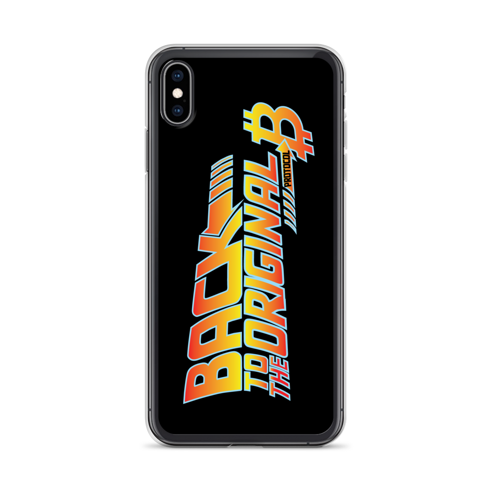 Back To The Original Bitcoin Protocol iPhone Case Black iPhone XS Max  - zeroconfs