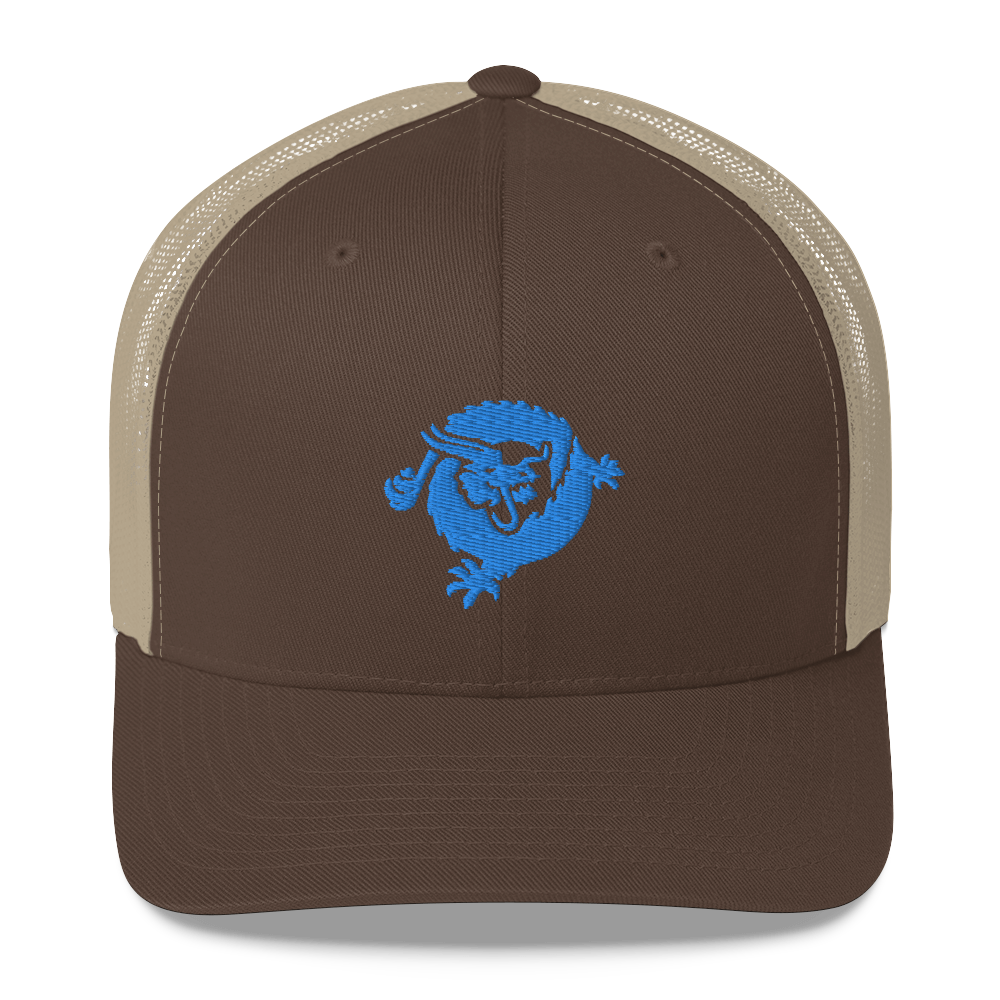 Bitcoin SV Dragon Trucker Cap Blue Brown/ Khaki  - zeroconfs