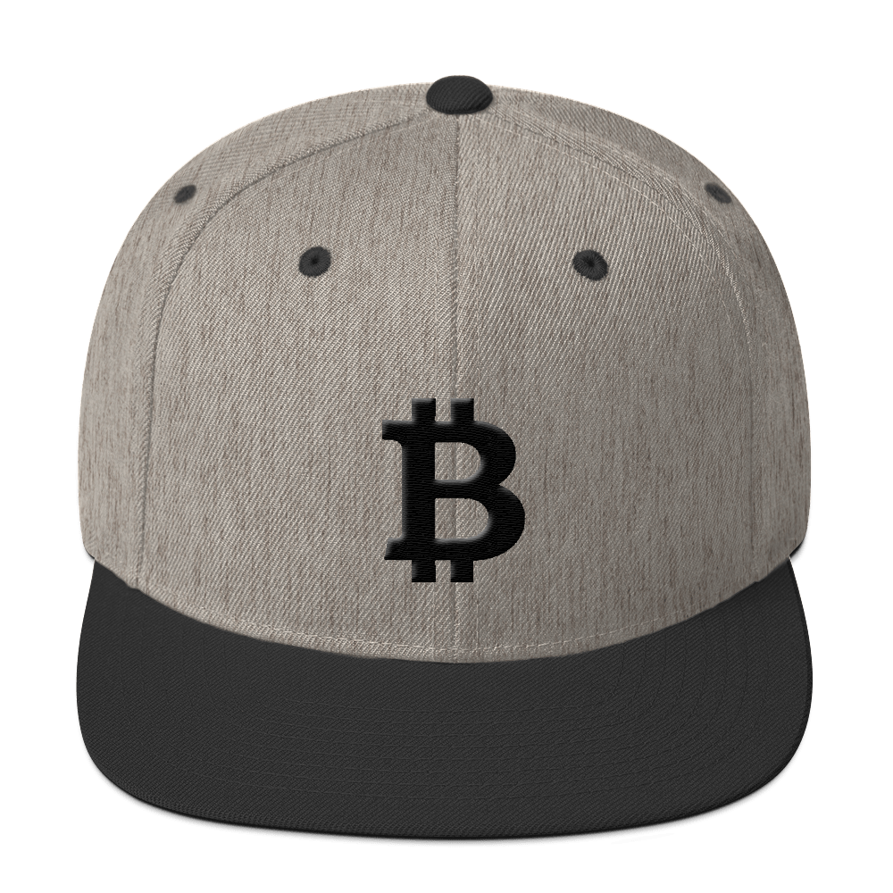 Bitcoin Blacknet SE Snapback Hat Heather/Black  - zeroconfs