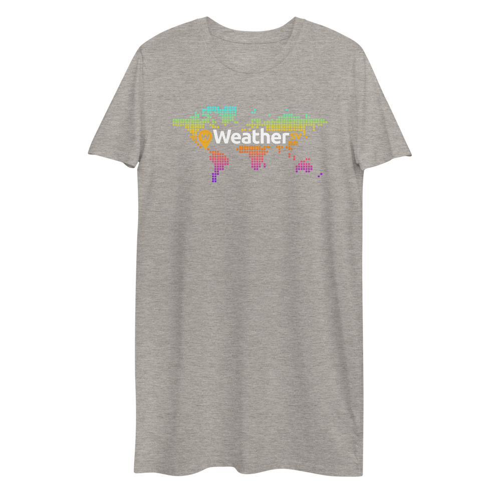 Weather SV Premium T-Shirt Dress Heather Grey XS - zeroconfs