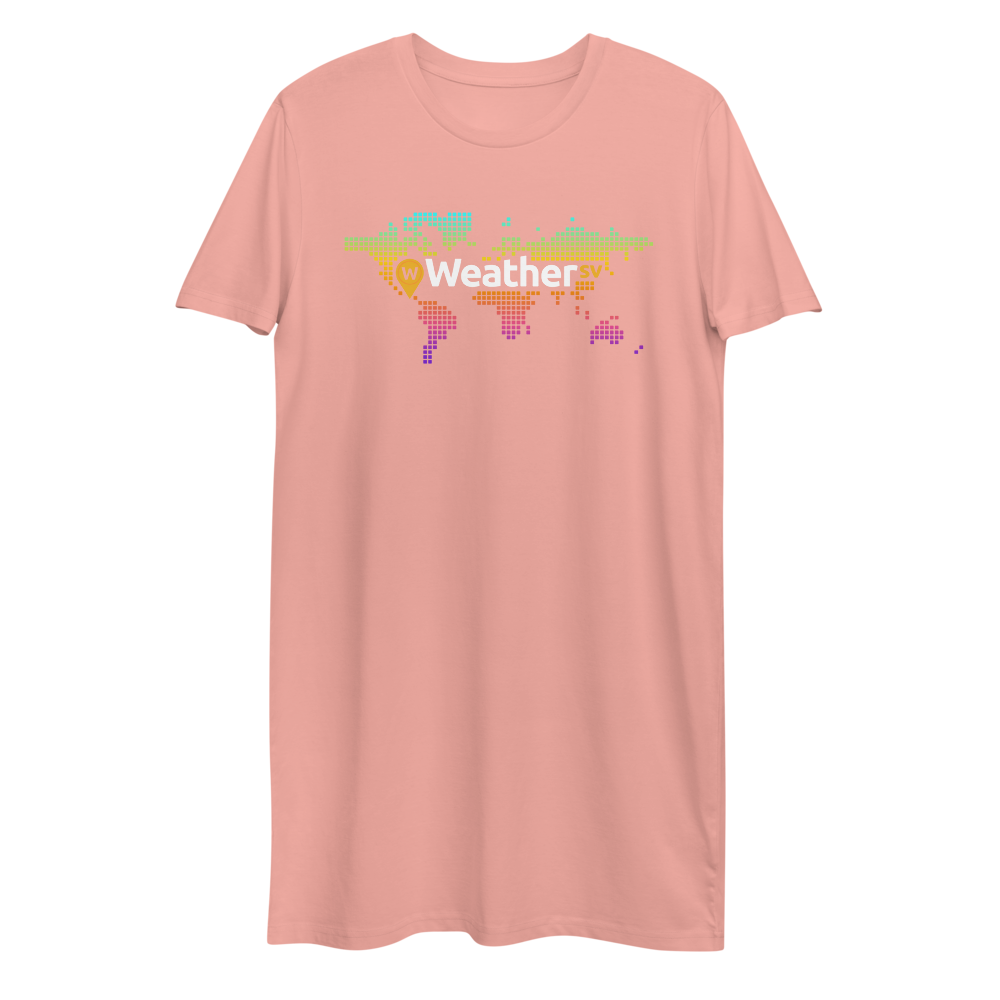 Weather SV Premium T-Shirt Dress Canyon Pink XS - zeroconfs