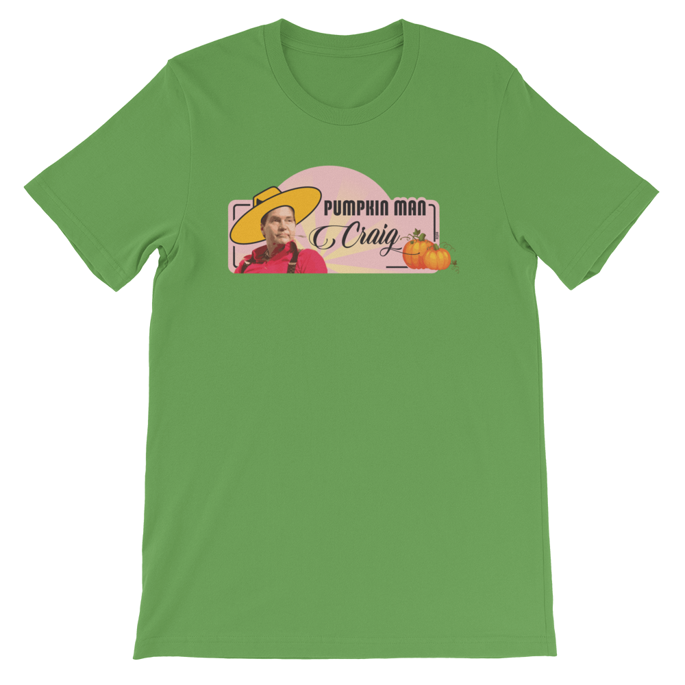 Pumpkin Man Craig Short-Sleeve T-Shirt Leaf S - zeroconfs