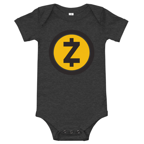 Zcash Baby Bodysuit Dark Grey Heather 3-6m - zeroconfs