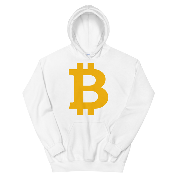 Bitcoin B Hooded Sweatshirt White S - zeroconfs