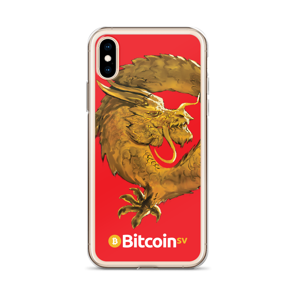 Bitcoin SV Woken Dragon iPhone Case Red   - zeroconfs