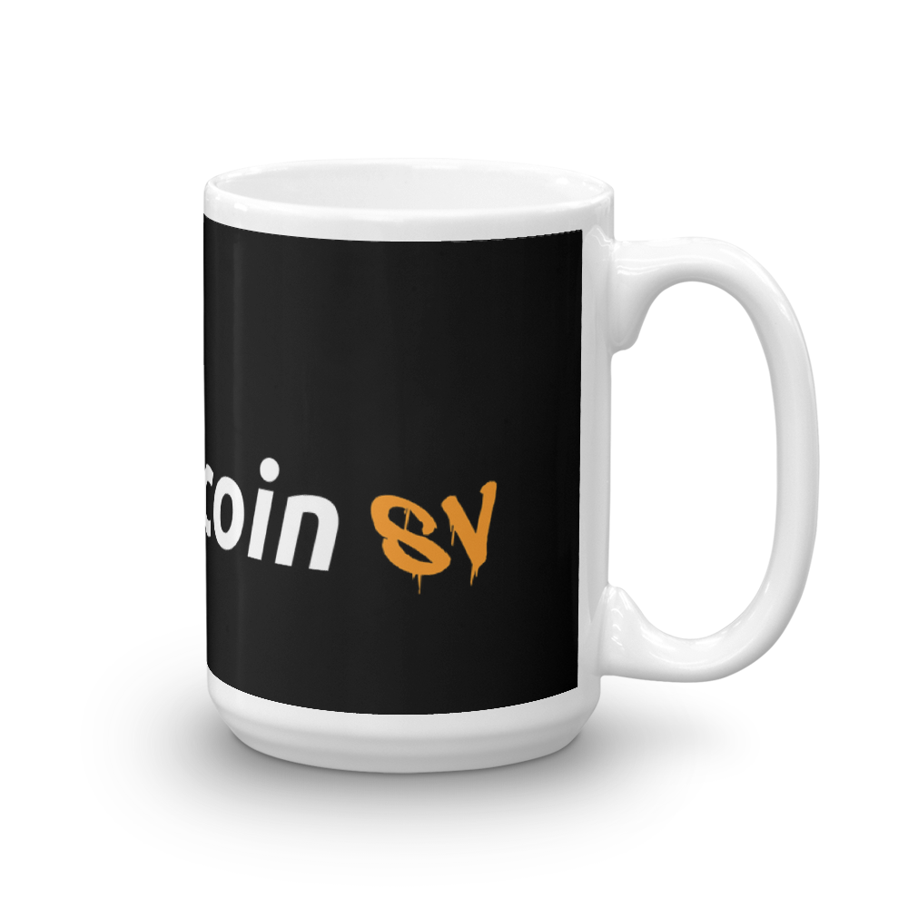 Try Bitcoin SV Coffee Mug 15oz  - zeroconfs