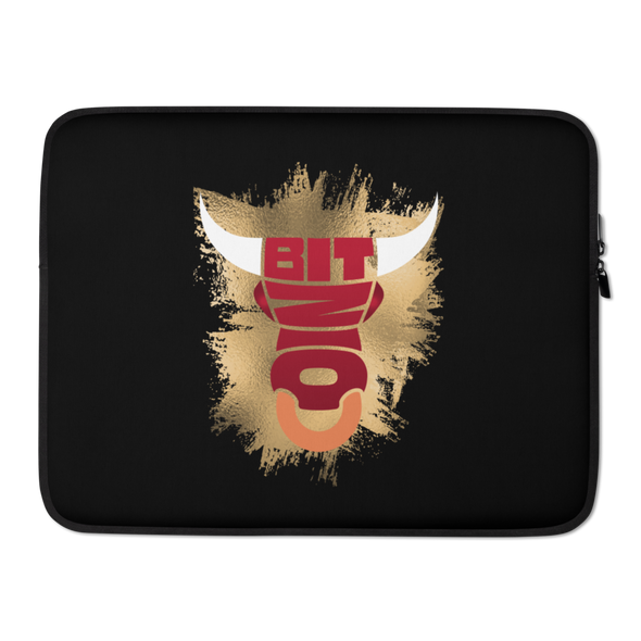 Bitcoin Bull Laptop Sleeve 15 in  - zeroconfs