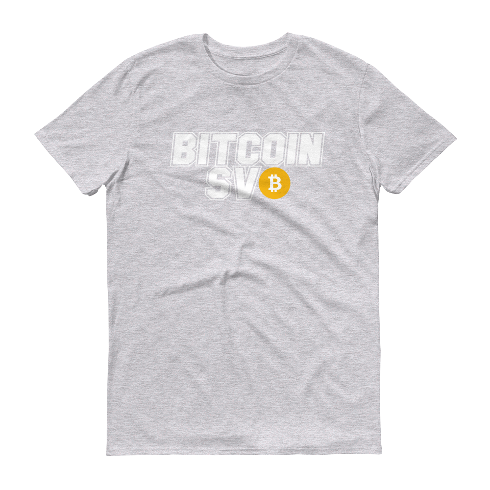 Bitcoin SV Sports Short-Sleeve T-Shirt Heather Grey S - zeroconfs