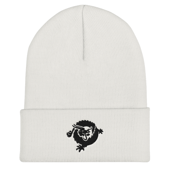 Bitcoin SV Dragon Cuffed Beanie Black White  - zeroconfs