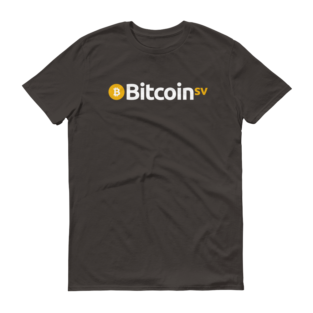Bitcoin SV Short-Sleeve T-Shirt Smoke S - zeroconfs