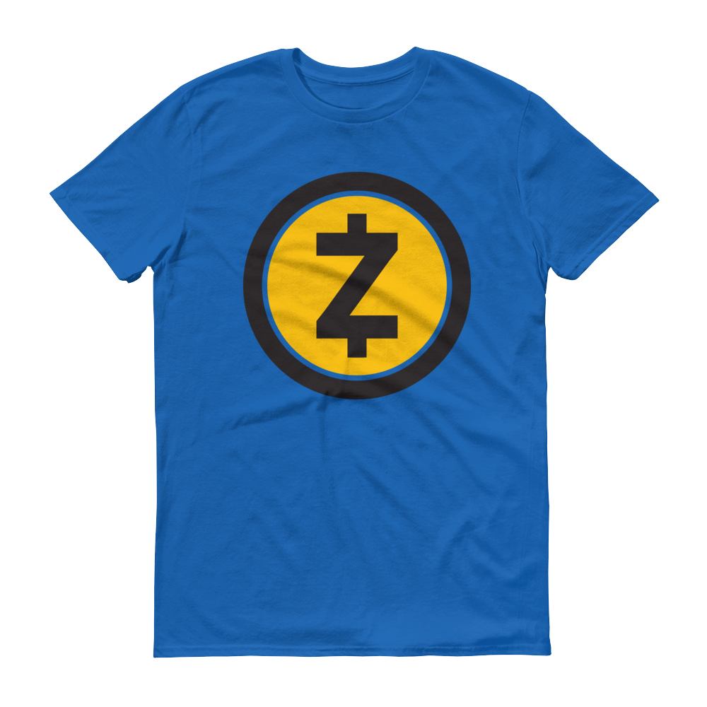 Zcash Short-Sleeve T-Shirt Royal Blue S - zeroconfs