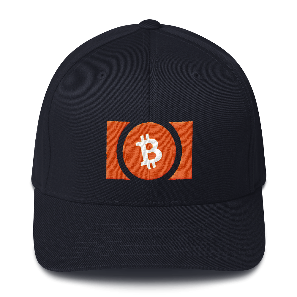 Bitcoin Cash Flexfit Cap Dark Navy S/M - zeroconfs
