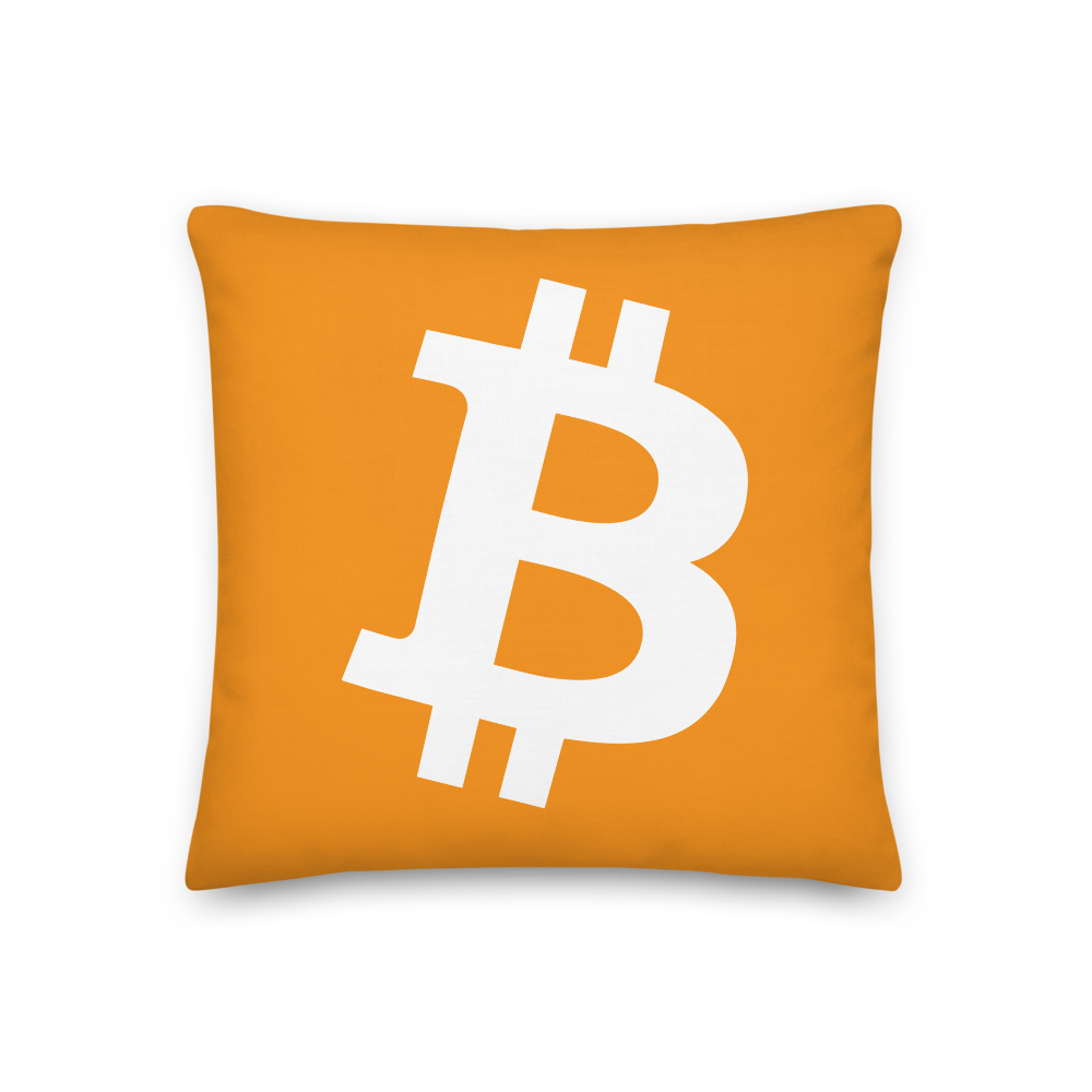 Bitcoin Core Premium Pillow 18×18  - zeroconfs