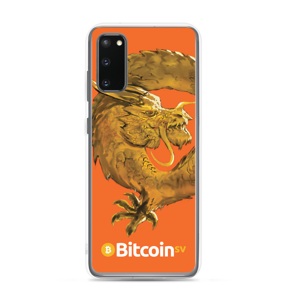 Bitcoin SV Woken Dragon Samsung Case Orange Samsung Galaxy S20  - zeroconfs