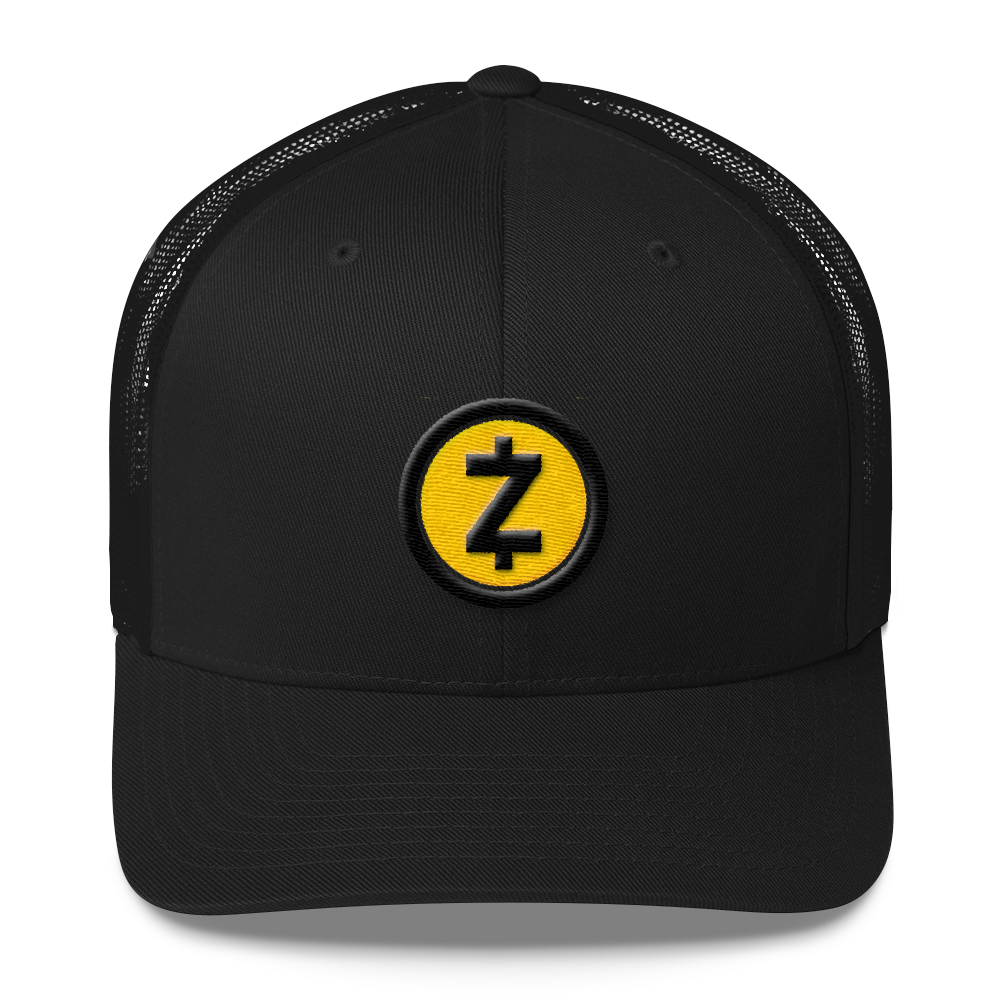 Zcash Trucker Cap Black  - zeroconfs