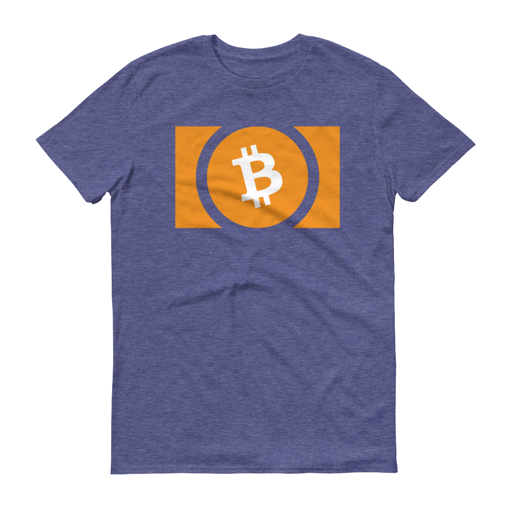 Bitcoin Cash Short-Sleeve T-Shirt Heather Blue S - zeroconfs
