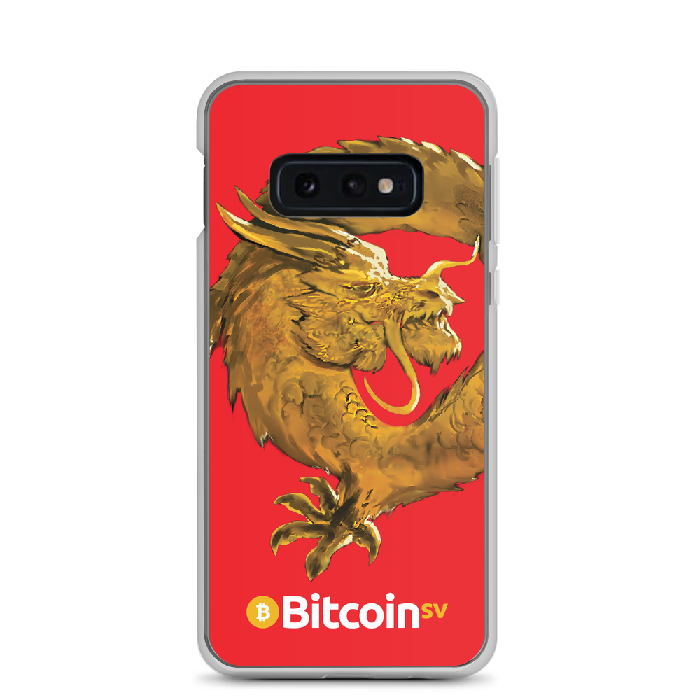 Bitcoin SV Woken Dragon Samsung Case Red Samsung Galaxy S10e  - zeroconfs