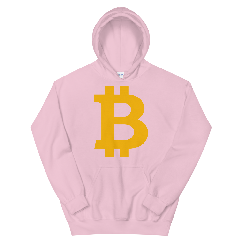 Bitcoin B Hooded Sweatshirt Light Pink S - zeroconfs