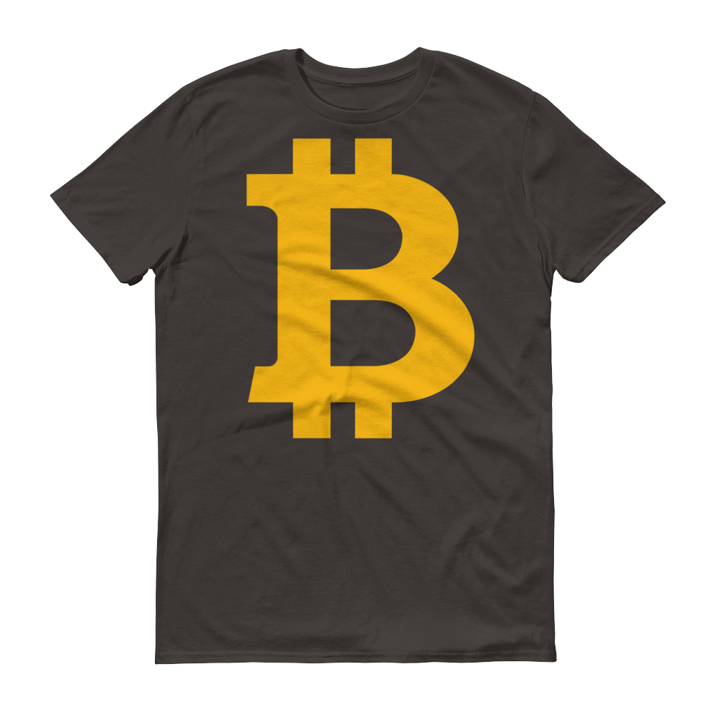 Bitcoin B Short-Sleeve T-Shirt Smoke S - zeroconfs