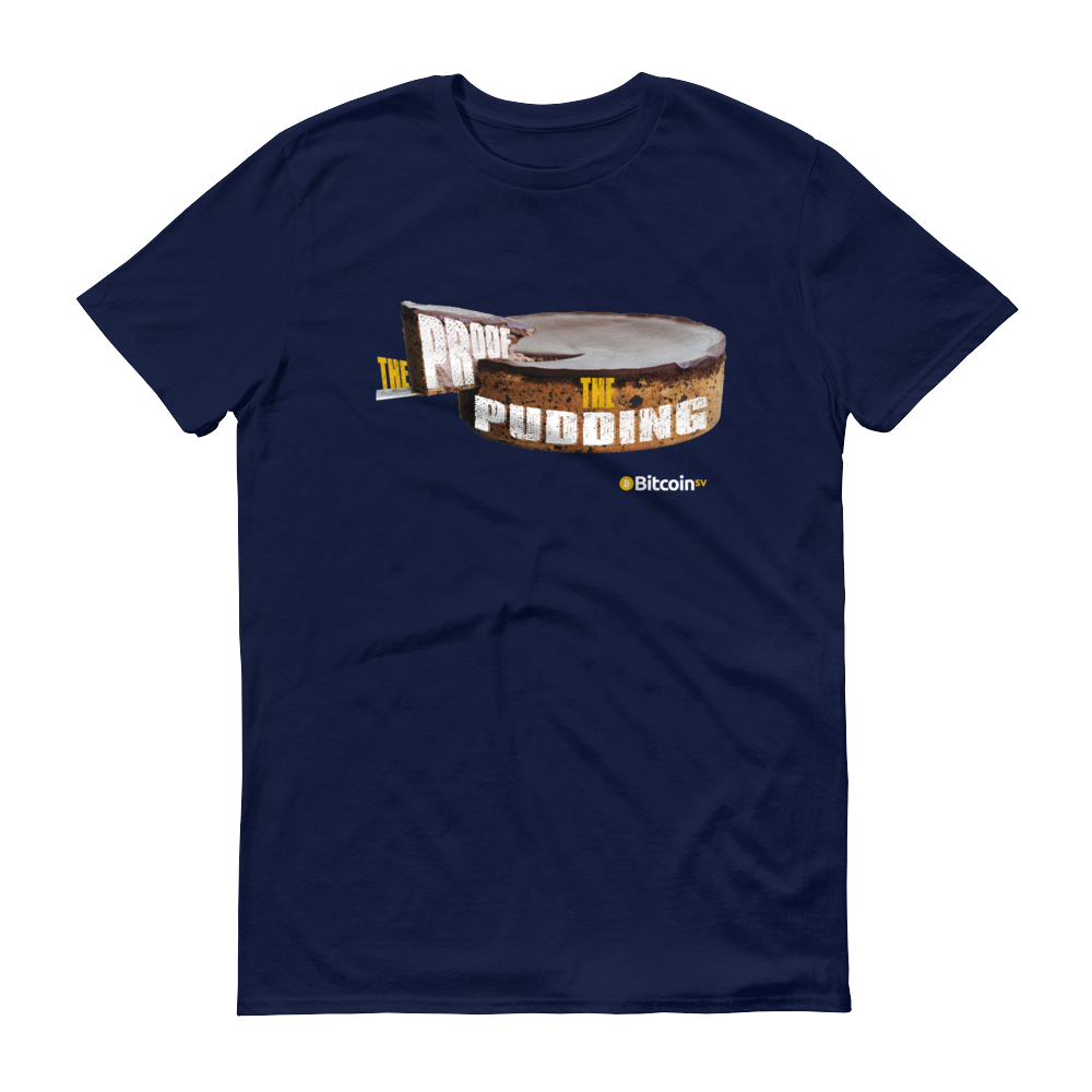 Proof Of Pudding Bitcoin SV Short-Sleeve T-Shirt Navy S - zeroconfs