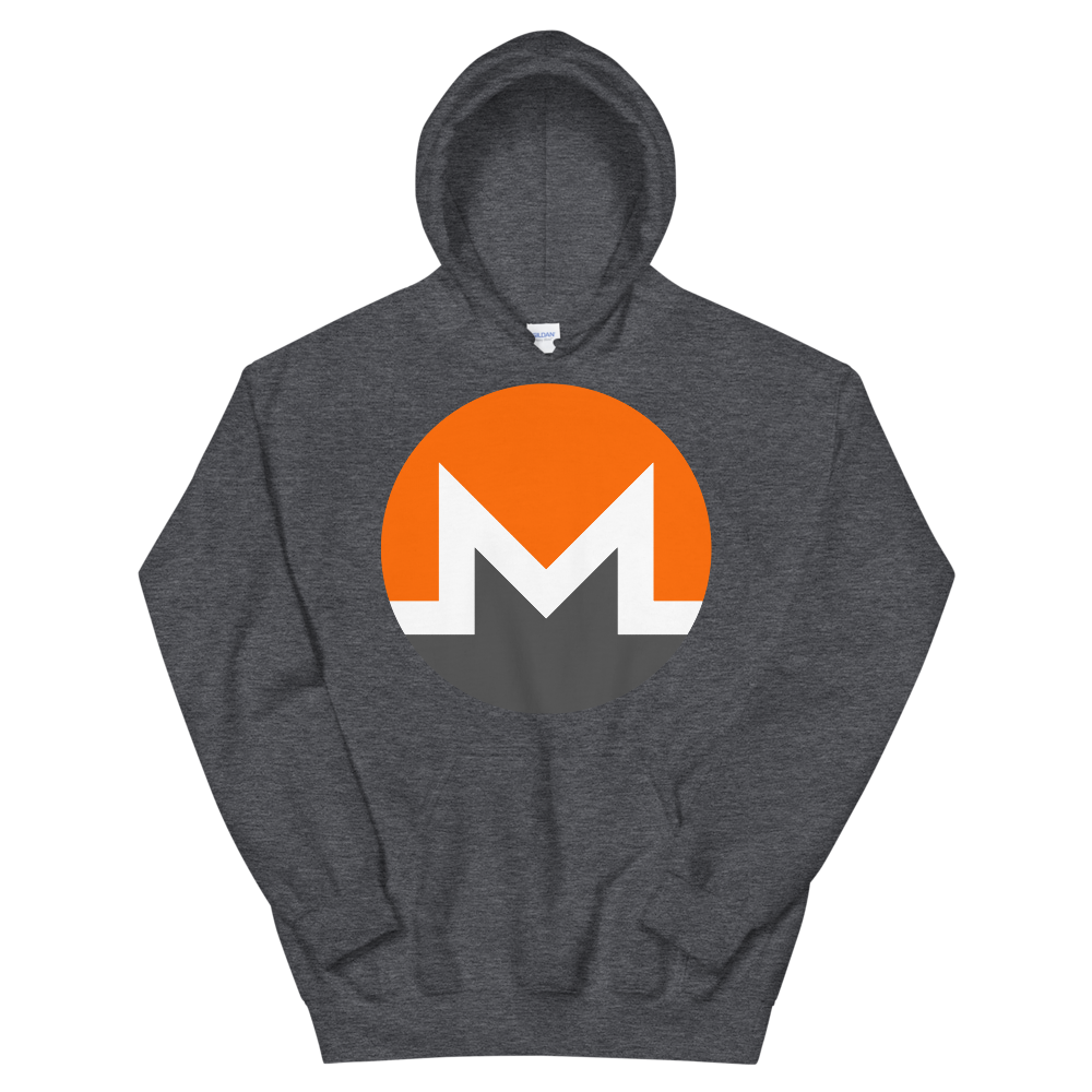 Monero Hooded Sweatshirt Dark Heather S - zeroconfs
