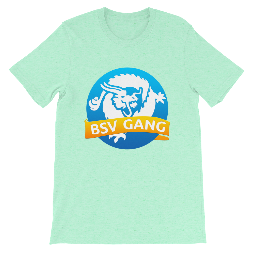 Bitcoin SV Gang Short-Sleeve T-Shirt Heather Mint S - zeroconfs