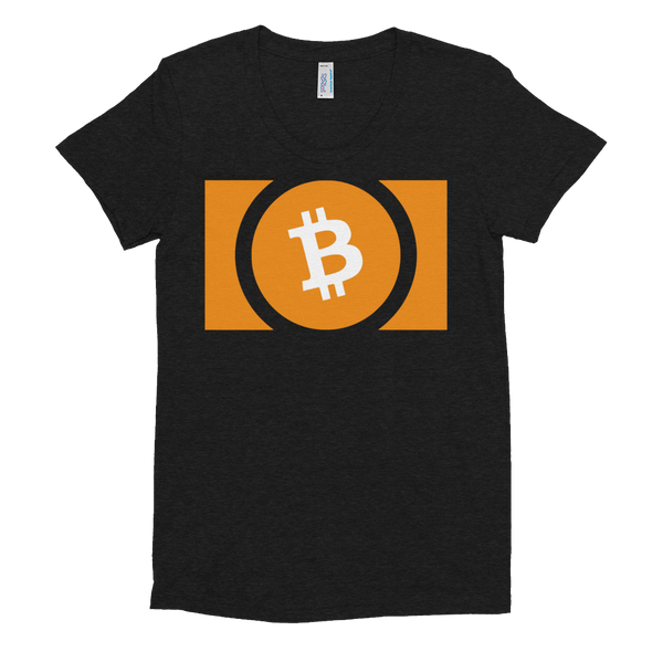 Bitcoin Cash Women's Crew Neck T-Shirt Tri-Black S - zeroconfs