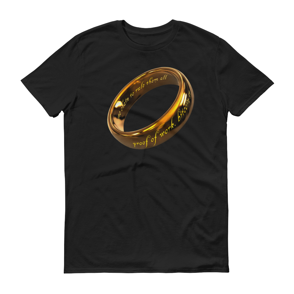 One Chain To Rule Them All Bitcoin SV Short-Sleeve T-Shirt Black S - zeroconfs