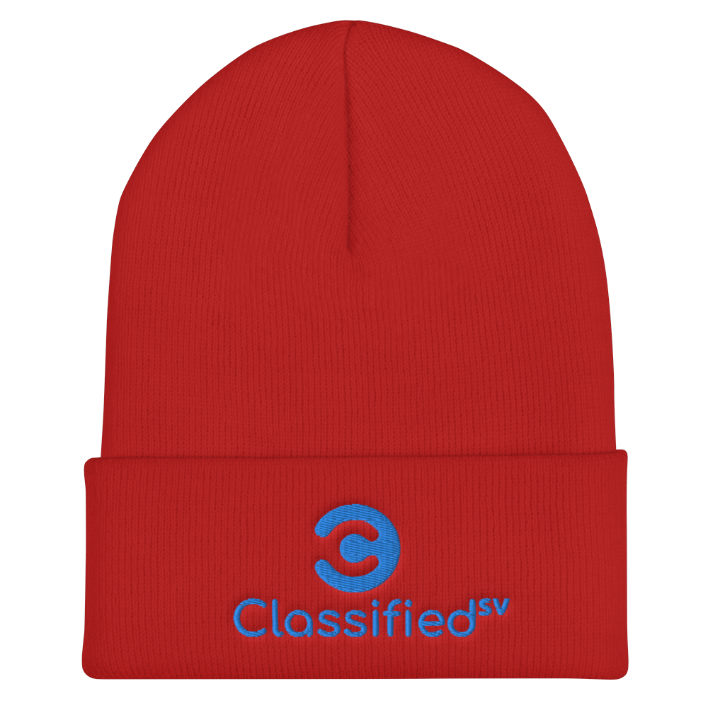 Classified SV Cuffed Beanie Red  - zeroconfs