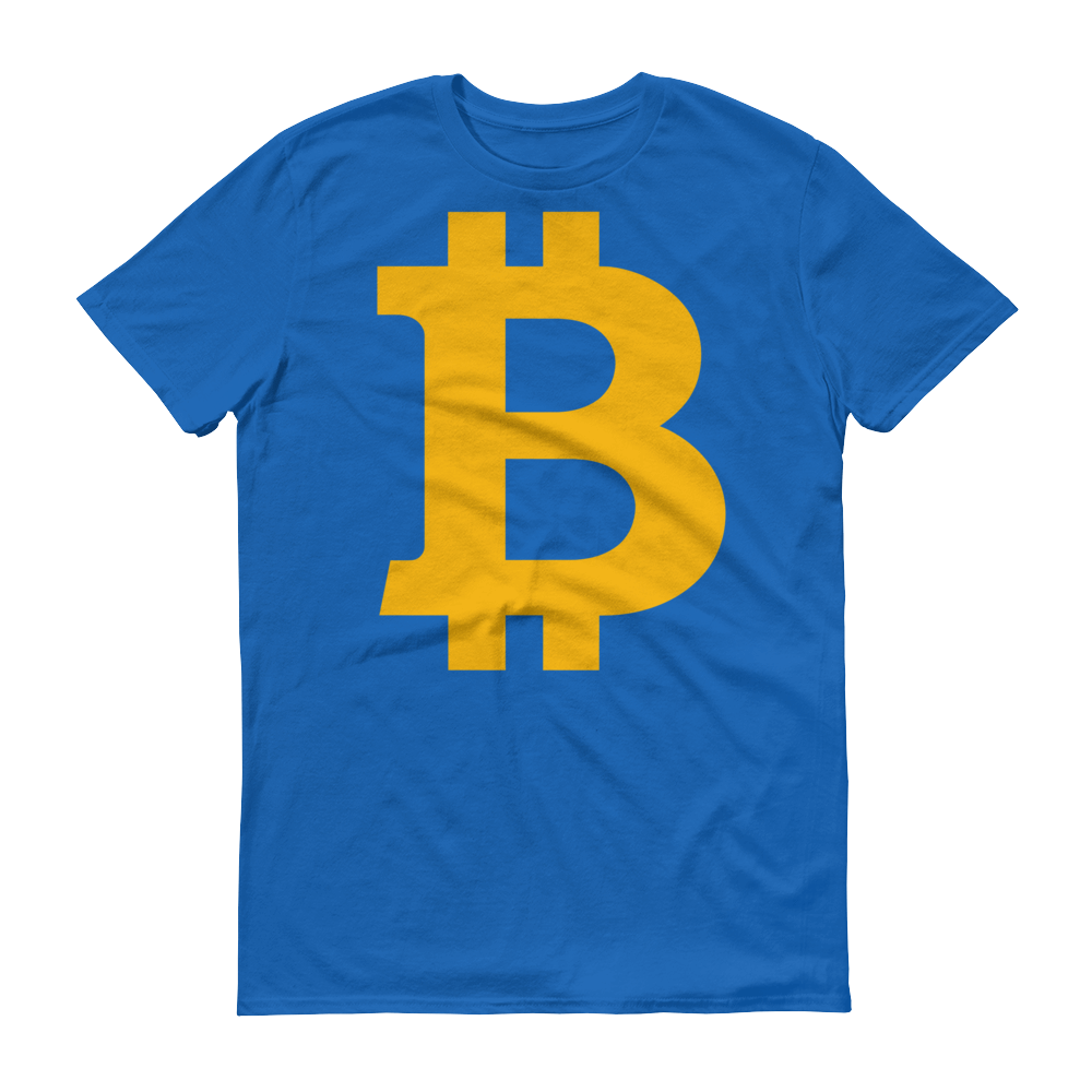 Bitcoin B Short-Sleeve T-Shirt Royal Blue S - zeroconfs
