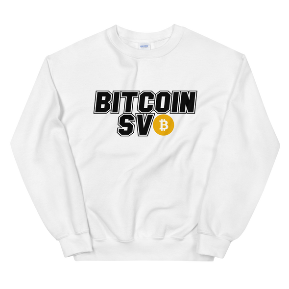 Bitcoin SV Sports Sweatshirt White S - zeroconfs