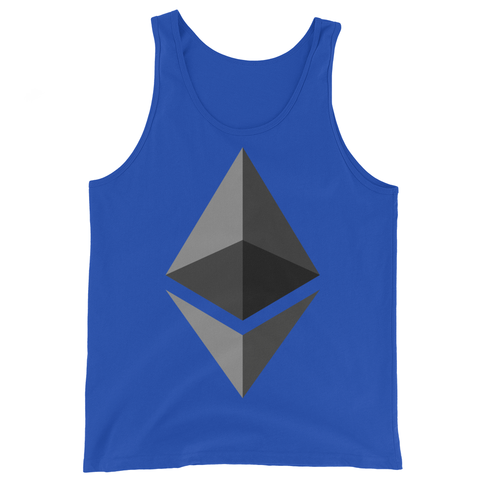 Ethereum Tank Top True Royal XS - zeroconfs