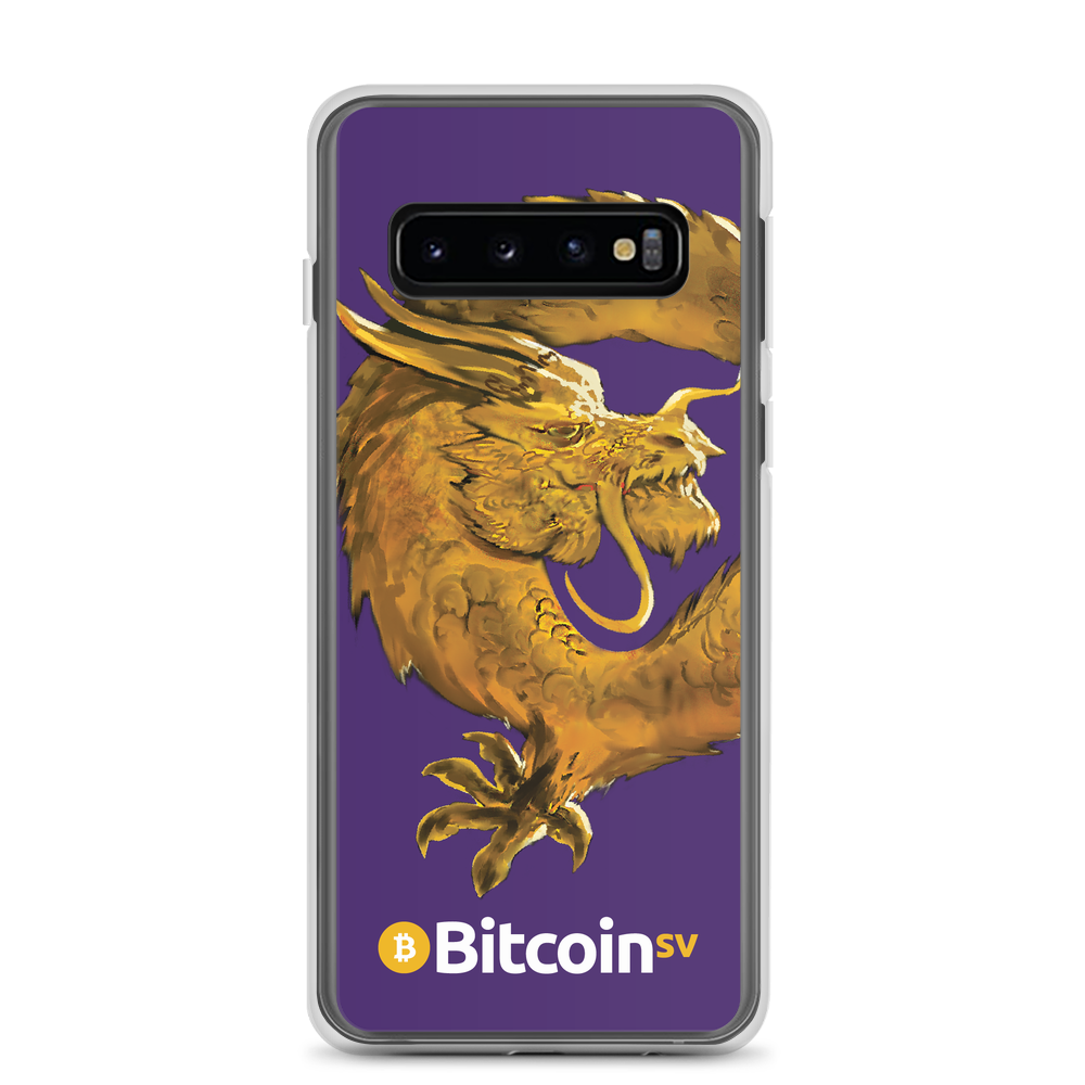 Bitcoin SV Woken Dragon Samsung Case Purple Samsung Galaxy S10  - zeroconfs