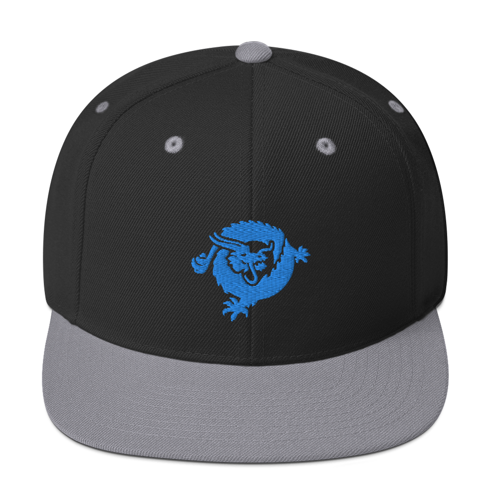 Bitcoin SV Dragon Snapback Hat Blue Black/ Silver  - zeroconfs