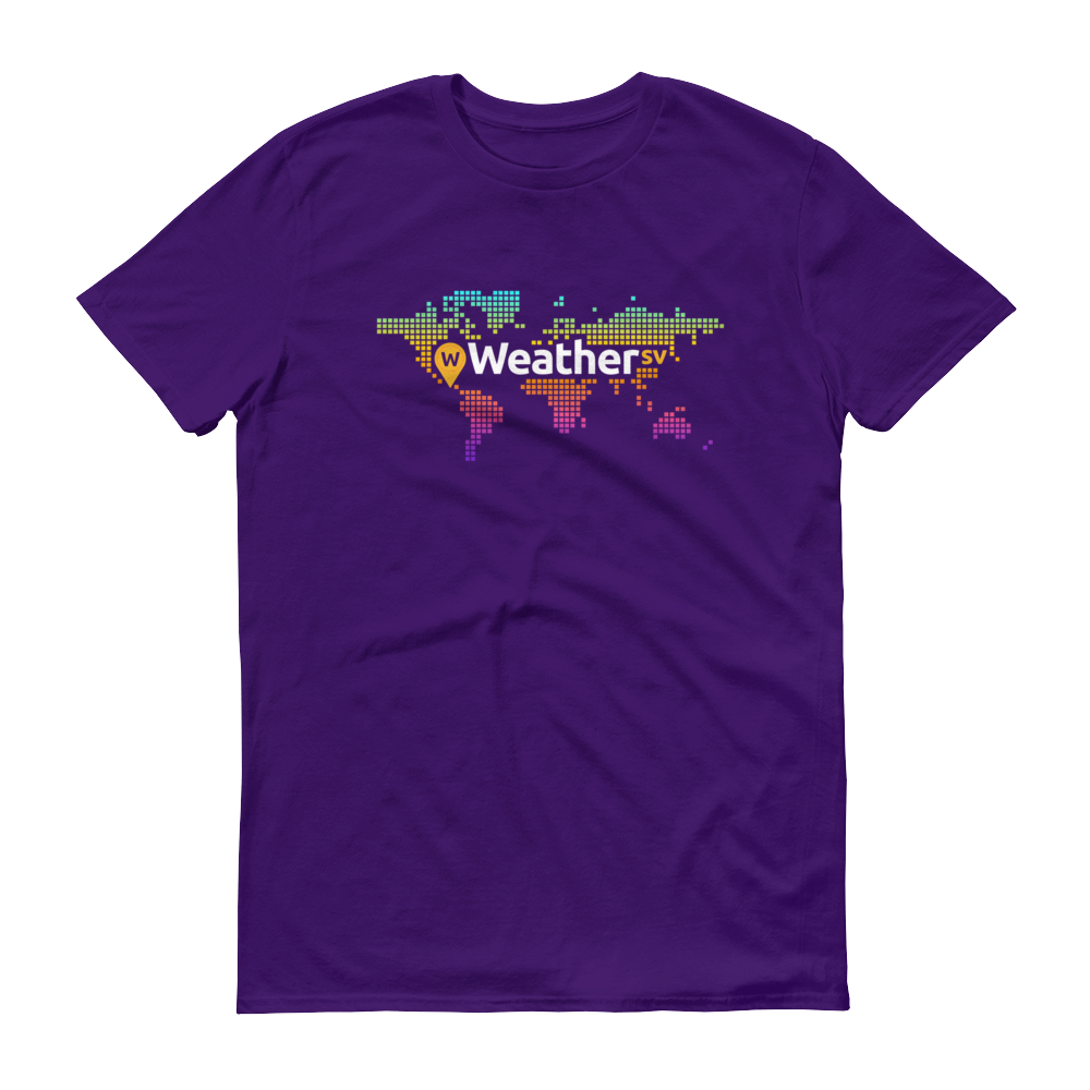 Weather SV Short-Sleeve T-Shirt Purple S - zeroconfs