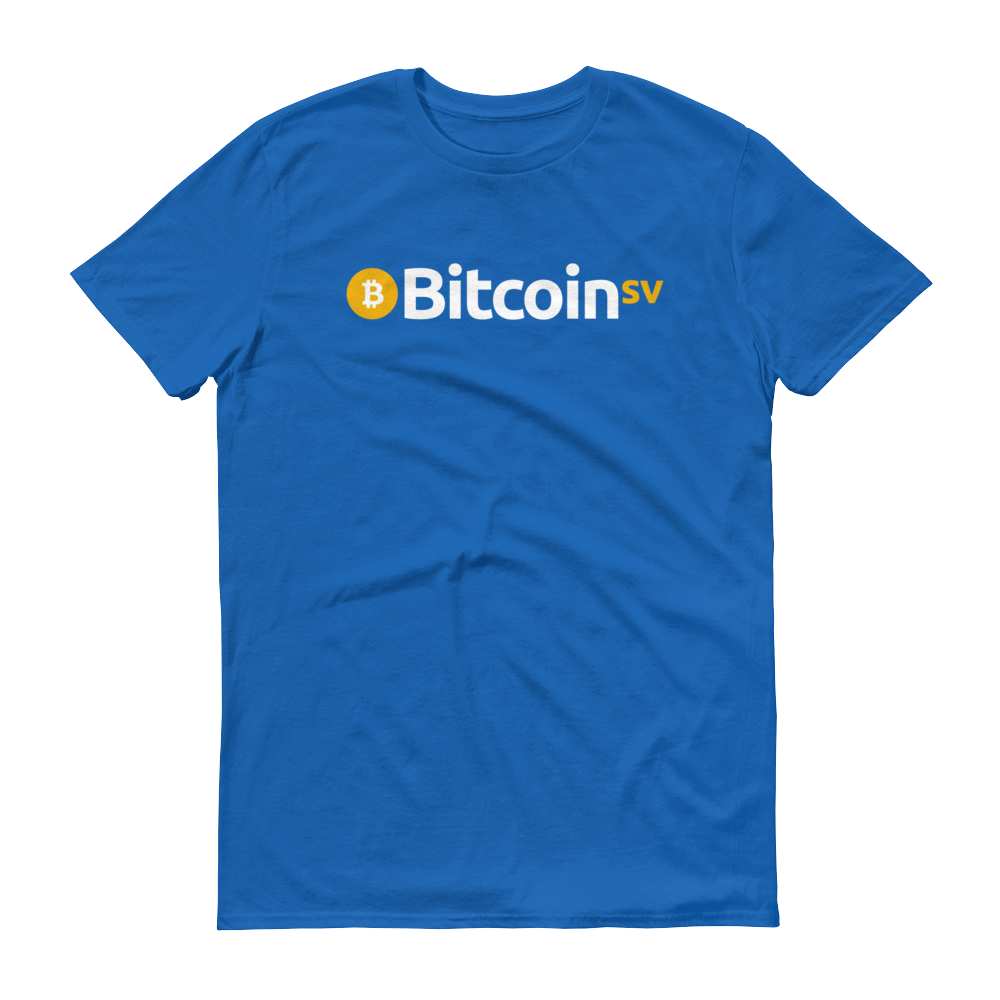 Bitcoin SV Short-Sleeve T-Shirt Royal Blue S - zeroconfs