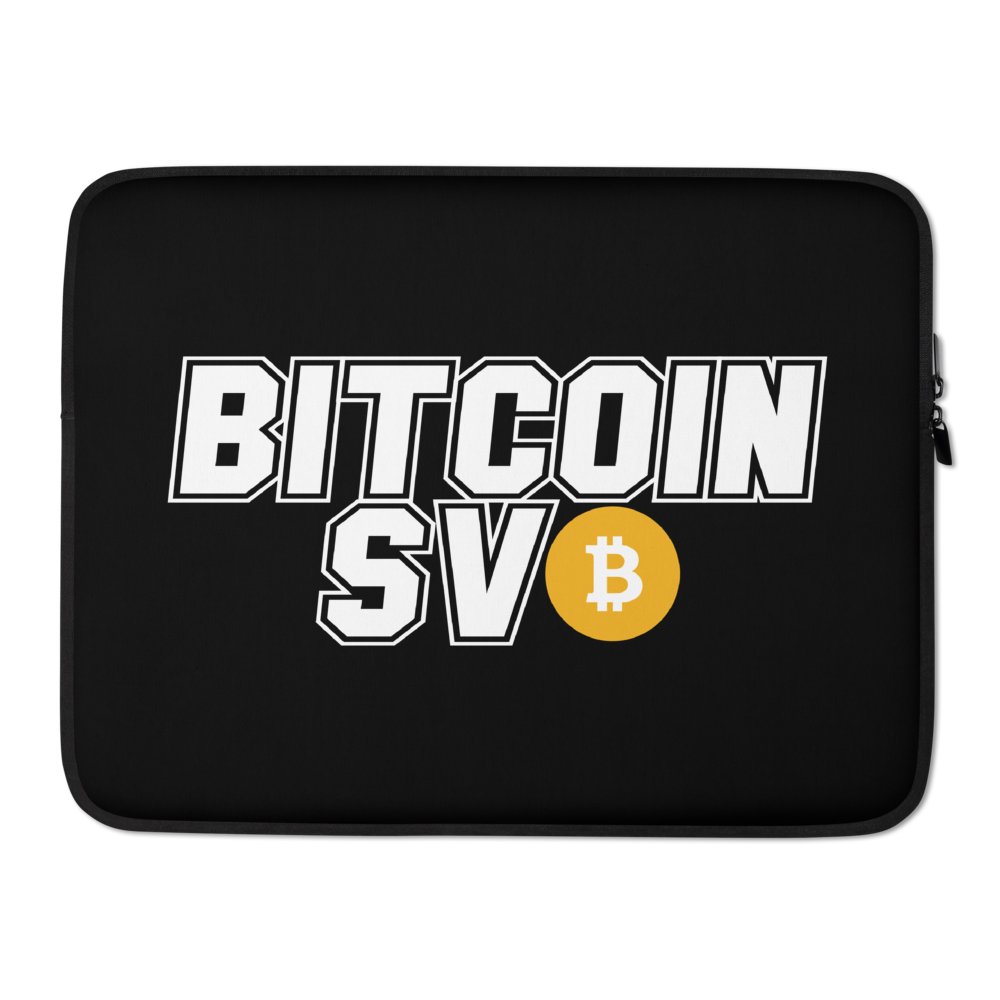 Bitcoin SV Sports Laptop Sleeve 15 in  - zeroconfs