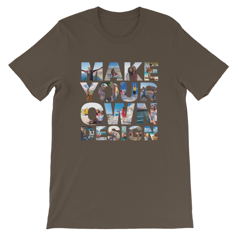 Make Your Own Design Customizable Short-Sleeve T-Shirt Army S - zeroconfs
