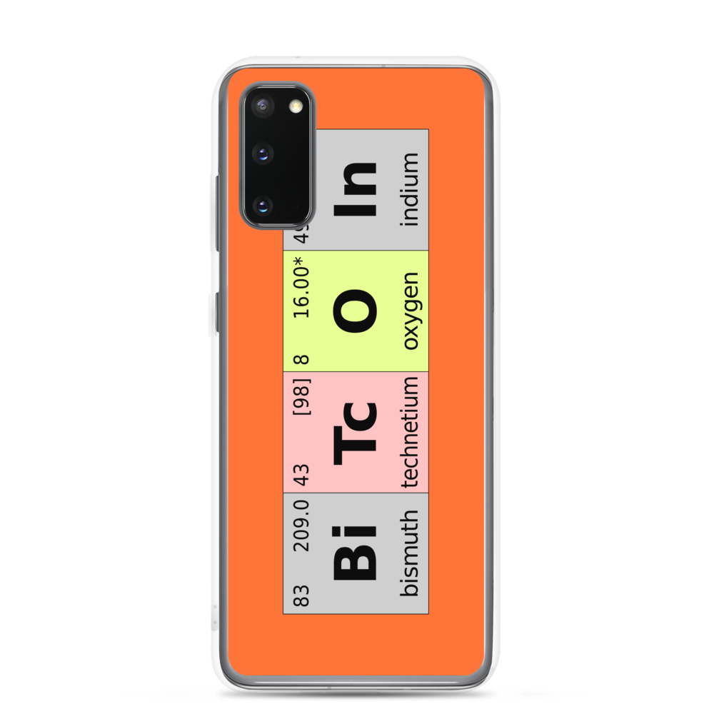 Bitcoin Periodic Table Samsung Case Samsung Galaxy S20  - zeroconfs