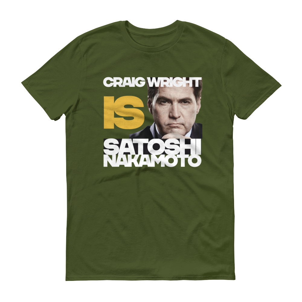 Craig Is Satoshi Short-Sleeve T-Shirt City Green S - zeroconfs