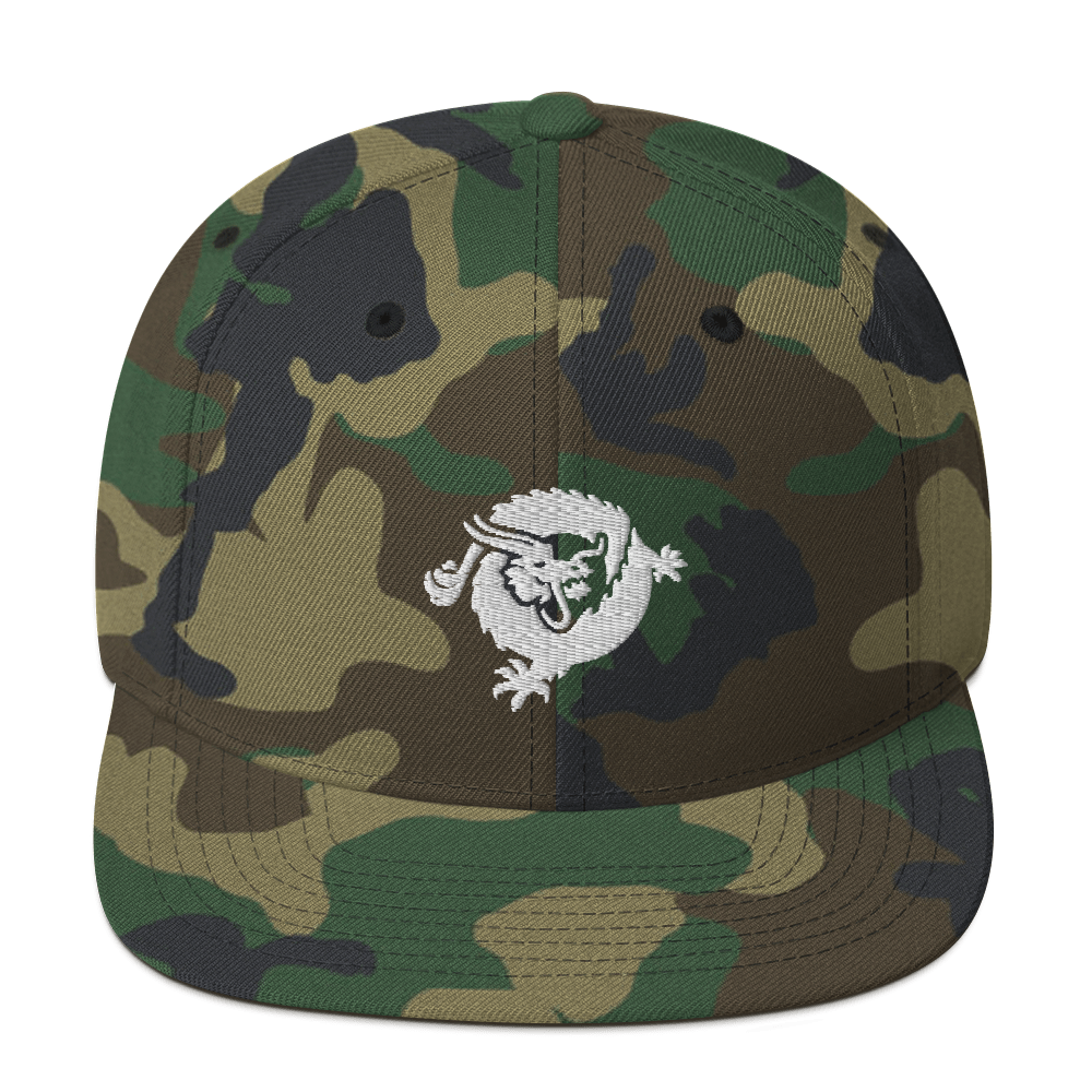 Bitcoin SV Dragon Snapback Hat White Green Camo  - zeroconfs