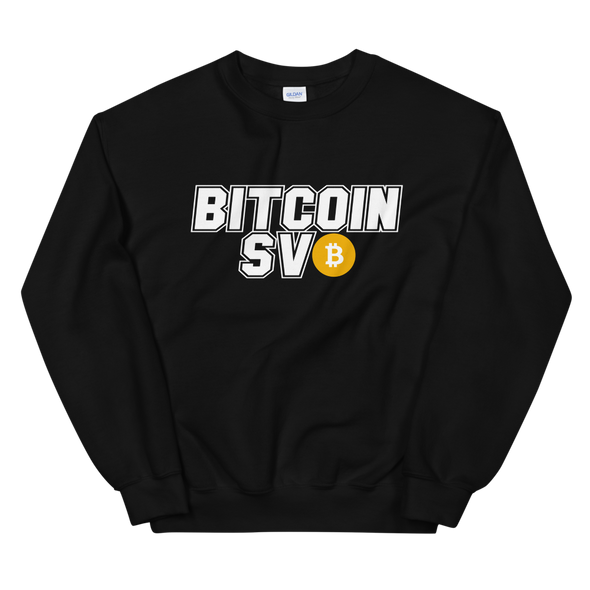 Bitcoin SV Sports Sweatshirt Black S - zeroconfs